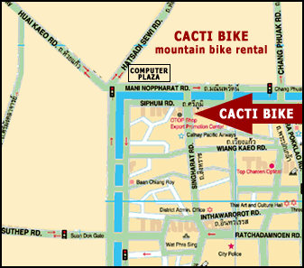 Map of Cacti Bike Shop in Chiang Mai